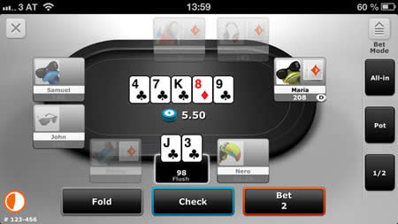 Poker app for android and iphone gala casino deal or no deal
