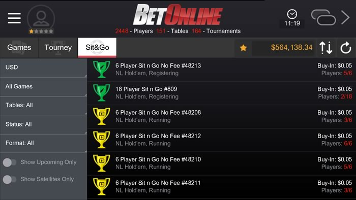 BetOnline iPhone/Android Poker App for U S  Players - iPhone Poker Apps