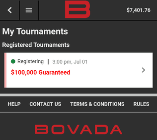 Bovada Tournaments